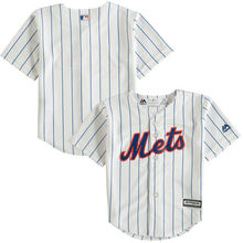 MLB Toddler New York Mets Baseball White Official Cool Base Jersey(China)