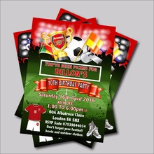 20 pcs/lot Football Birthday Party Invitationa Baby Shower Invites Football Birthday party decoration supplier free shipping