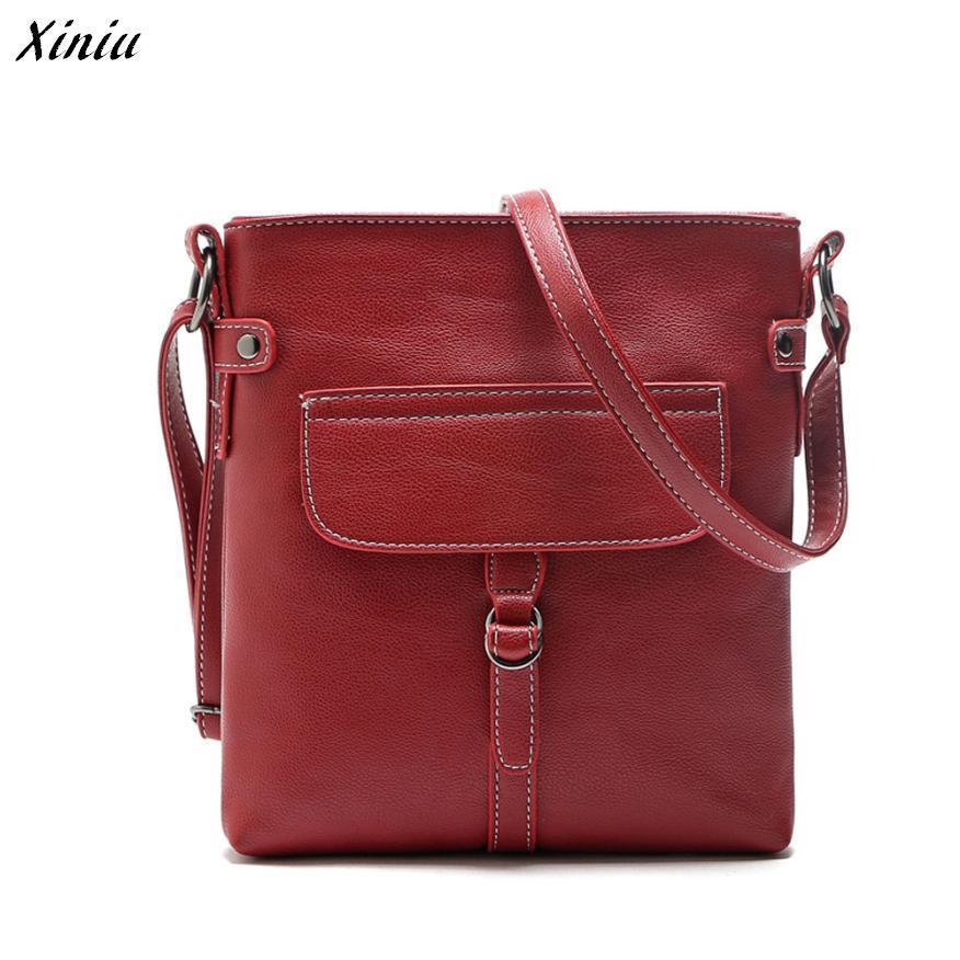 Xiniu Womens Handbags Double Stitching Strap False Pocket Satchel Cross Body Flap Messenger Bag #2132<br><br>Aliexpress