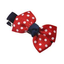 Children hairpins Webbing Red Baby Girls Kids Dot HairBows Hair Clip children infants bow knot hair clips baby care accessories(China)