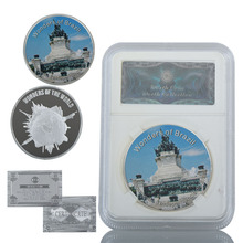 WR Mexico Metal Coin Unique Gifts Monumento A Independencia Do Brasil 999.9 Silver Challenge Coins with Security Box for Gifts