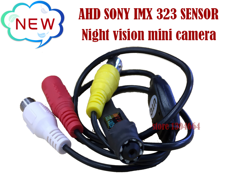 NEW AHD 2MP/1080P SONY IMX 323 Sensor Mini Analog High Definition Surveillance  infrared night vision CCTV Camera Free shipping<br>