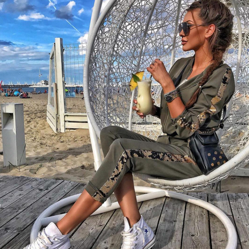 liva girl Glitter Tracksuit Women Set Autumn Two Piece Set Top And Pants 2 Piece Set Women Outfits Sportswear Ladies Tracksuits