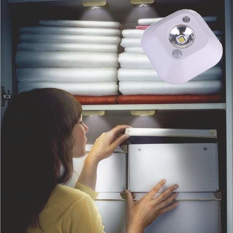 LED Mini Wireless Infrared Motion Sensor Night Light Wall Emergency Wardrobe Cabinet Night Lamp atmosphere light 8