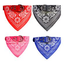 Pet dog collar printed fashion pet supplies scarf dogs Cat collar leather personality pet collar(China)