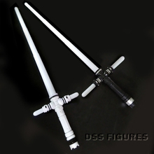 NEW Star Wars Kylo Ren Cross lightsaber Retractable Flashing Light Sound Sword Toys Cosplay Weapons Electric Toy Props(China)