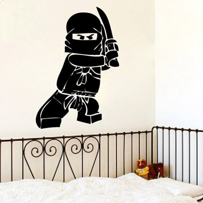 NEW Ninjago Lego Vinyl Decal Sticker Kids Boy Room Decor Children's Play Room Wall Decor Lego Wall Stickers Home Art Mural