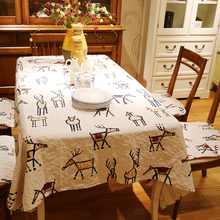 New cartoon kids printed cotton Square rectangle embroidery Tablecloth table cloth dinner mat Mat table cover wholesale FG256-5