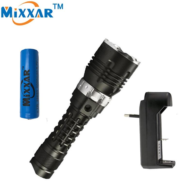 zk30  Underwater 120m LED Diving Flashlight Torch 5000LM CREE XM-l2  Brightness Waterproof LED Torch Military grade flashlight<br><br>Aliexpress