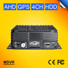 GPS 4CH Hard Disk AHD Mobile Dvr H.264 Motion Detection Cycle Recording I/O Video Backplay Record Recorder GPS Track Mdvr