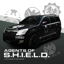New Marvel Agents of SHIELD Reflective Door Hood Fender Vinyl Car Sticker Auto Decal DIY Decal Exterior Window Body Car-Styling