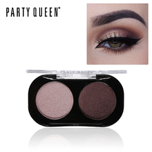Party Queen 2Color Smooth Glitter Naked Eyeshadow Palette Pigment Shimmer Matte Artist Duo Eye Shadow Kit Makeup Chic Eye Shadow