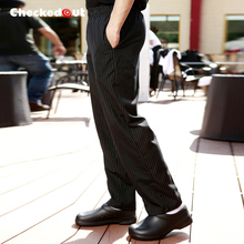 food service Summer Cook pants work pants striped chef pants restaurant hotel kitchen waiter trousers for men