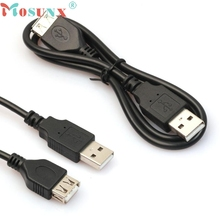 Good Sale 1PC 2ft/60cm Black USB Male to A Female Extension Extender Data M/F Adapter Cable  Free shipping Jan 1