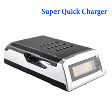 Super Quick Battery Charger With LCD dispaly 4 Slots Smart Charger for 1-4 pcs AA/AAA Ni-MH/Ni-Cd rechargeable batteries
