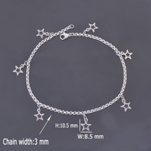 DIY 316L Stainless Steel Anklet Chain with Small Five-pointed Star Charms Stainless Steel Ankle Bracelet Foot Jewelry A009(China)