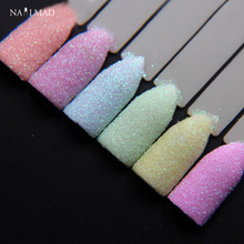 6colors NailMAD Pastel Nail Glitter Set Nail Art Glitter Powder Dust Ultra-fine Glitters Mix(China)