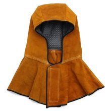Safurance 60cm Leather Hood Helmet Mask Protector Cap For Welder Electric Welding Work Workplace Safety(China)