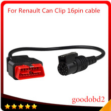 Car auto diagnostis Scanner Tool For Renault Can Clip Diagnostic Interface OBDII 16 PIN Obd2 16pin Connector main testing cable(China)