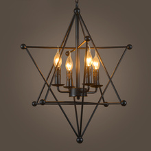 Retro personality living room cafe pot shop clothing store fixtures minimalist American country wrought iron pendant lights(China)