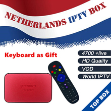 Ipremium Android tv box 8G rom Dutch IPTV Netherlands Holland Swedish Israel IPTV m3u smart Linux ip tv Box Better Than MAG254(China)