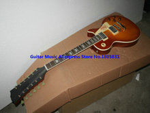 Honey Burst 12 strings Custom Electric Guitar LP VOS guitars High Quality free shipping