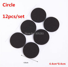 12pcs/set Rubber Antiskid Shockproof Sticker Tape Mute Pads Chair Non-slip Pad Desk Feet Mats Furniture Pad Cover Circle HY843