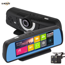 New Wifi Android Car DVR Camera GPS Navigation Video Recorder Vehicles Parking Rear view Mirror Dual cameras DashCam Camcorder