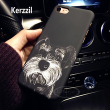Kerzzil Animals Dog Panther Cheshire Cat Case For iPhone 7 6 6S Plus PC Hard Matte Phone Cover Back For iPhone 6s 8(China)