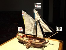 Free shipping Scale 1/80 The Dutch royal yacht wooden model + brass upgrade parts+ Alloy anchor(China)