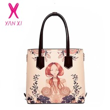 YANXI Hot Sale Women Bag High quality PU shoulderbag handbag Fashion Japanese And Korean Style Casual Flower Fairy Messenger Bag