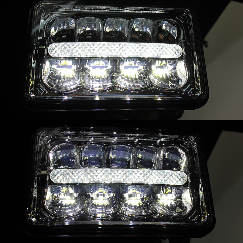 2pcs X Hot Sale 4x6 LED Sealed Beam High/Low With DRL parking Light Replacement Headlights<br><br>Aliexpress