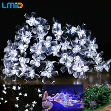 Solar Lamps 4.8M 20LEDs Flower Blossom Decorative Lights Waterproof white fairy Garden Outdoor Christmas solar led light