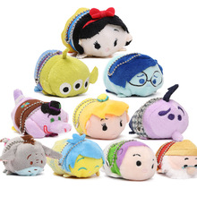 "3.5"" Mini Tsum Tsum Plush Toy Doll Cute Screen Cleaner Plush Toy Juguetes Snow White Mermaid Duck Dog Princess Cinderella Toys(China)"