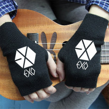FAN PRODUCTS New fashion Chanyeol Song kpop EXO-K EXO KRIS KPOP LAY GREY GLOVES warm winter wool V k-pop bts got7 vixx Mittens(China)