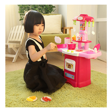 N178 Children have a family kitchen toys a girl cooking kitchen a family toy baby kitchen utensils tableware(China)