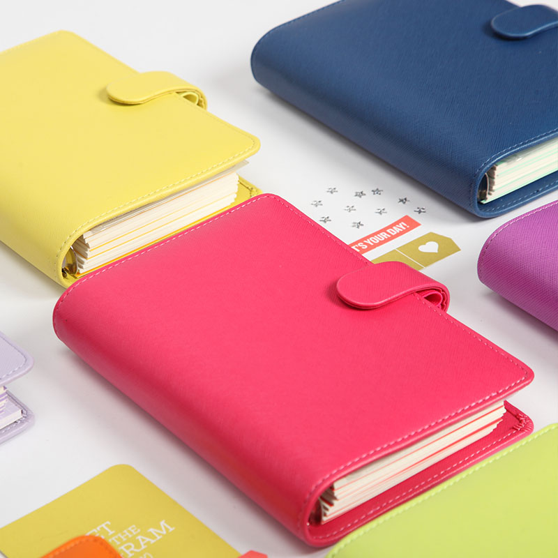 2017-2018 New Dokibook Notebook Candy Color Cover A5 A6 Loose-Leaf Time Planner Organizer  Series Personal Diary Daily Memos<br><br>Aliexpress