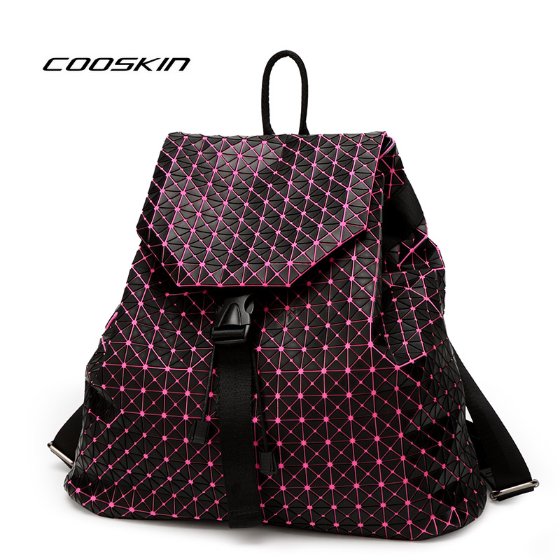 Cooskin Fashion women  Bao Bao Geometric Bag backpack brand famous logo bag Luminous backpack Bao Bao luxurywomen bag <br>