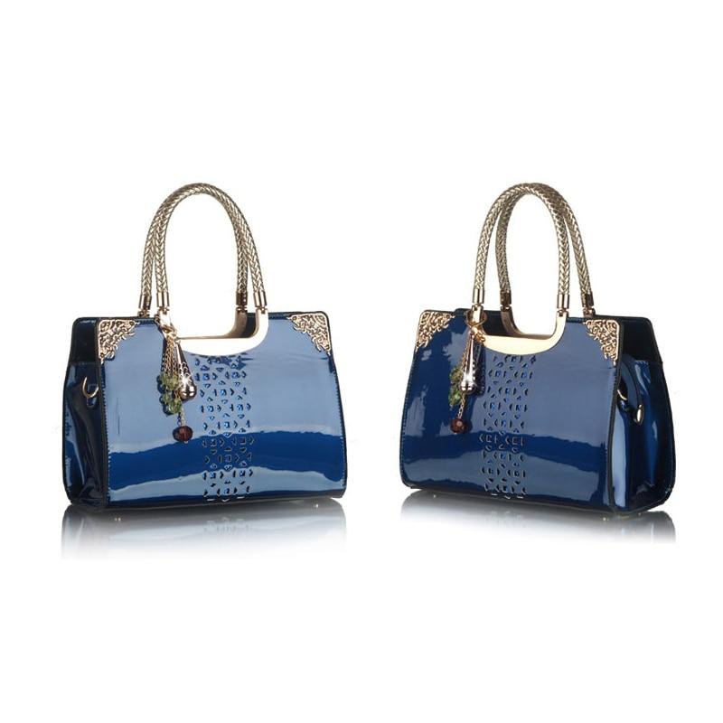 New Bule Fashion Women Lady Sequined hollow out Shouder Bag solid Handbag Tote Bolsas Femininas Bolsos Mujer W0074<br>