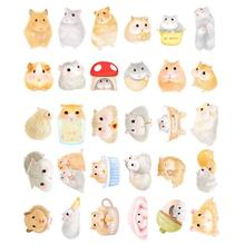 30pcs/lot Cute Small hamster design postcards greeting card christmas card birthday card creative gift cards(China)