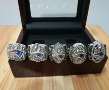 Free Shipping 2001 2003 2004 2014 2016New England Patriots Replica Super Bowl Championship Ring,Five together solid high quality(China)