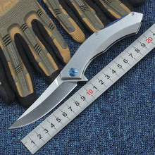 Blue Moon 58-60HRC Folding Knife D2 Blade Steel Handle Camping Survival Tactical Utility Knives Pocket Collection EDC tool