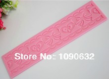Free Shipping Fondant Cake Lace Silicone Mold Sugar Paste Cake Decoration Sugar Art Tools Strip Knot & heart