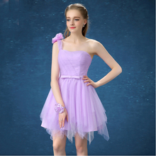 size 6 woman dresses new fashion arrival short lavender cocktail dress 2017 elegant for a special occasion free shipping S3397