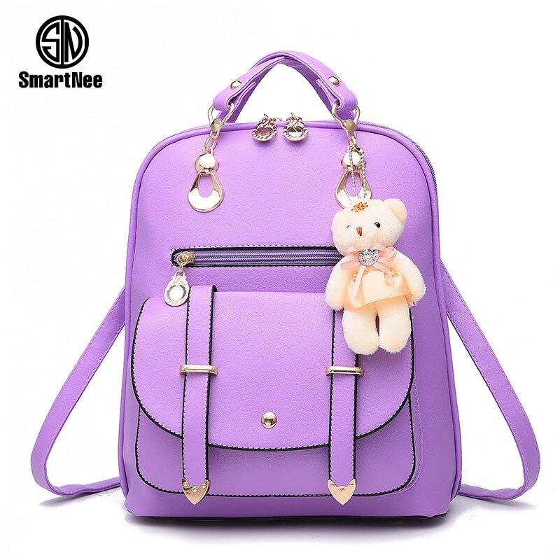 SmartNee Women Backpack Fashion Leather Shoulder Bags Colorful School Travel Bag for Teenager Girls Backpack Mochila Waterproof<br><br>Aliexpress