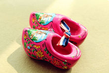 "2.5"" Netherlands Holland Wooden Shoes Tourist Travel Souvenir Fridge Magnet Rose Red(China)"