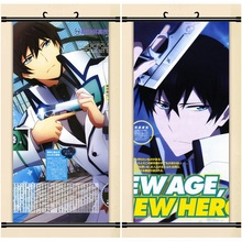 45X95CM The Irregular At Magic High School Shiba Tatsuya cameltoe Cartoon Anime wall scroll picture mural poster canvas painting(China)