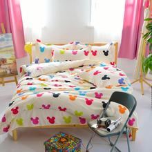 YOKASI cartoon mickey mouse comforter bedding set  bed linen 3d Duvet Cover  bed sheet pillowcases Full Queen size bedding sets