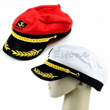 New Adult Fancy Dress Costume Peaked Skipper Sailor Navy Captain Boating Hat Cap(China)