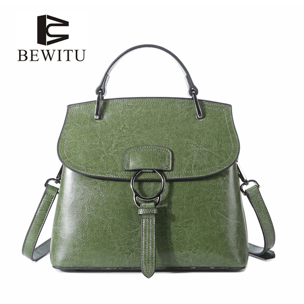 BEWITU Womens Shoulder Bag Cowskin Leather Handles for Bags S Casual Shoulder Messenger Bag Womens Small Bag<br>
